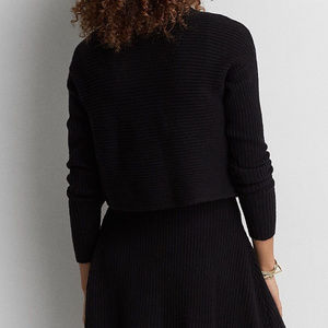 AEO Tiered A-Line Sweater Knit Dress Mock Neck L